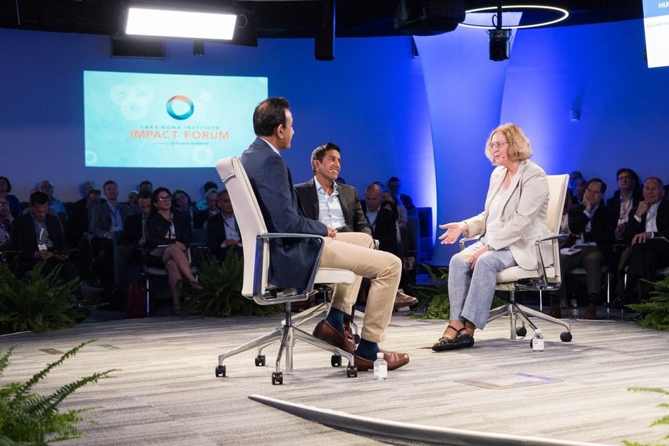 Sanjay Gupta, MD speaking at the 2018 Lake Nona Impact Forum in Orlando, Fla.