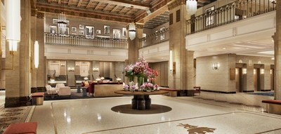 Rendering of Fairmont Royal York's new lobby (CNW Group/Fairmont Royal York)