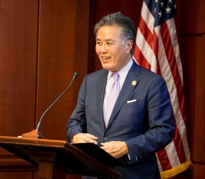 """Calif. Rep. Mark Takano calls energy storage """"the next big thing"""" during National Battery Day on Capitol Hill."""