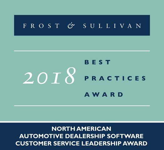 2018 North American Automotive Dealership Software Customer Service Leadership Award