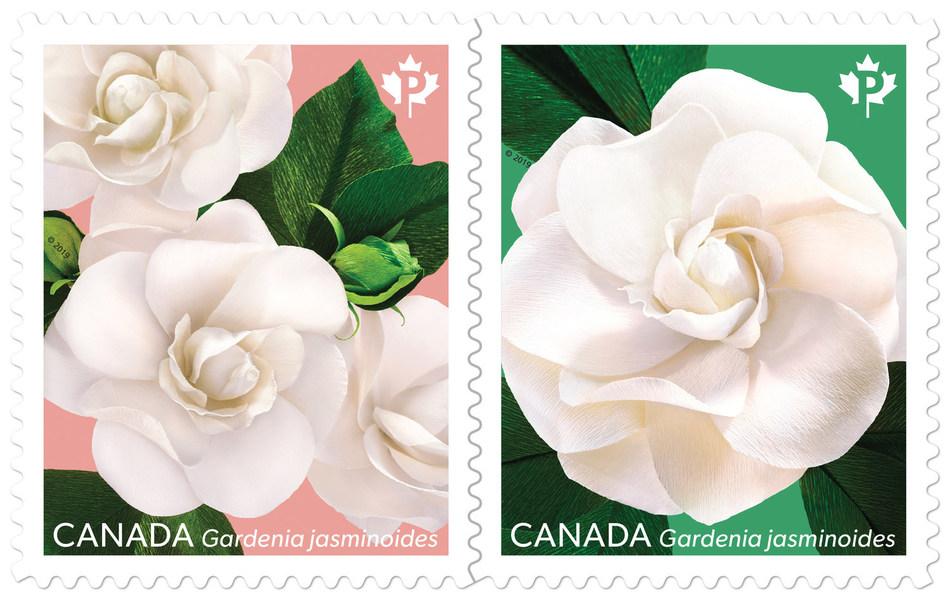 Gardenia stamp (CNW Group/Canada Post)