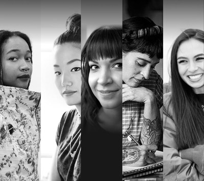 The panel will be moderated by art curator and writer Kimberly Drew (far left) with featured speakers (from left to right) illustrator, designer and entrepreneur Sophia Chang, JennAir product designer Jessica McConnell, tattoo artist Esther Garcia, and fashion designer and creative director Emily Oberg.