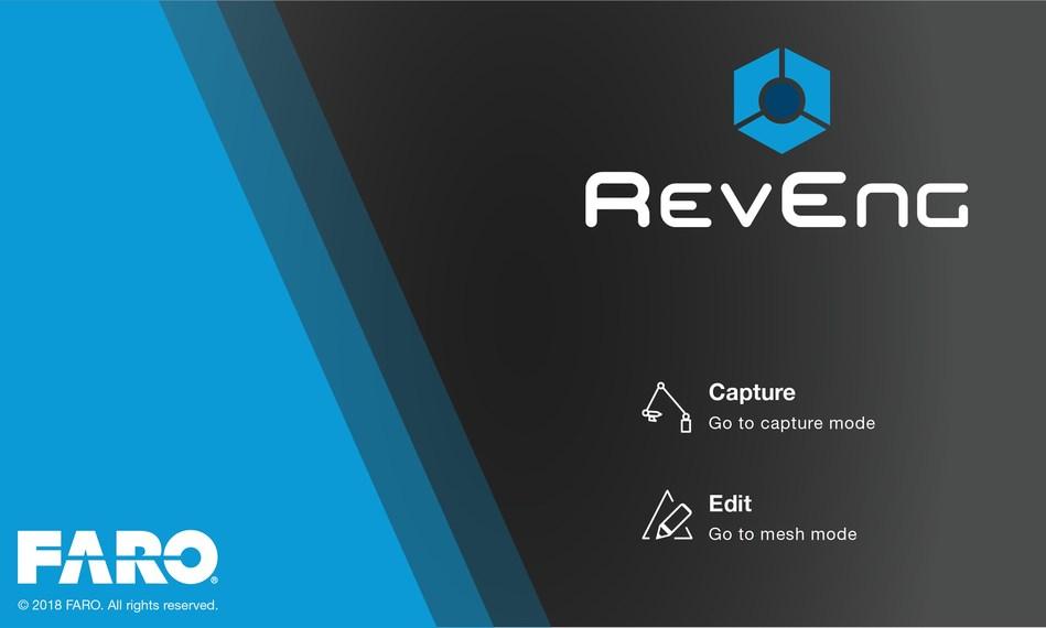 FARO RevEng ofrece a los usuarios una única solución para capturar nubes de puntos de color y editar la malla de forma rápida y eficaz.