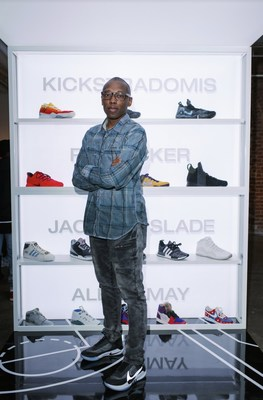 Sneakerhead Jacques Slade in Charlotte to celebrate the All-Star Drop.