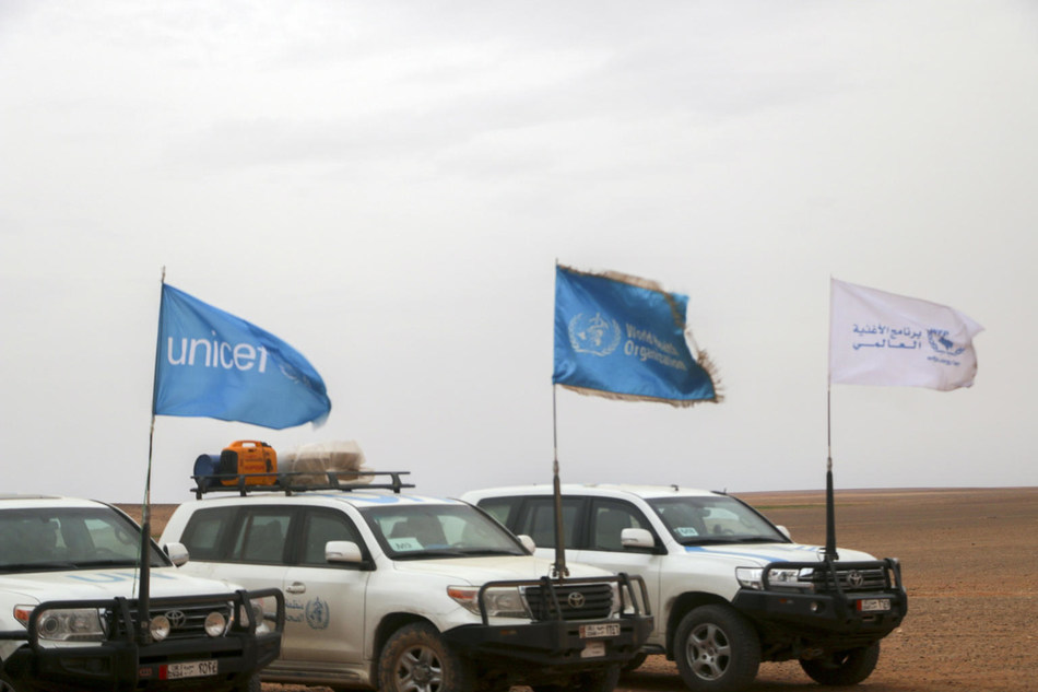 UNICEF, UN and Syrian Arab Red Crescent reach more than 40,000 people with life-saving supplies in largest-ever humanitarian convoy since the start of the Syria crisis © UNICEF/UN0279376/anonymous (CNW Group/UNICEF Canada)