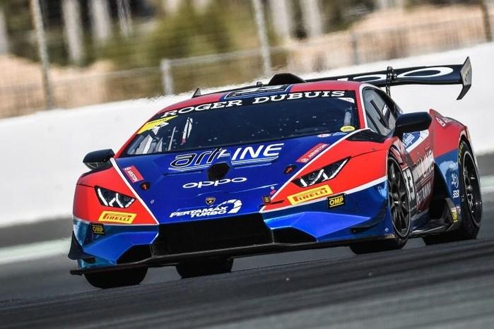 Lamborghini Super Trofeo Middle East celebrate super speeds with OPPO (PRNewsfoto/OPPO)
