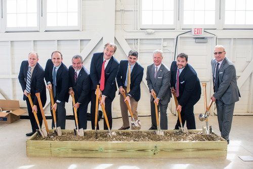 Gino Sabatini and Zachary Pasanen of W. P. Carey joined by partners and local leaders at groundbreaking ceremony in San Antonio, TX