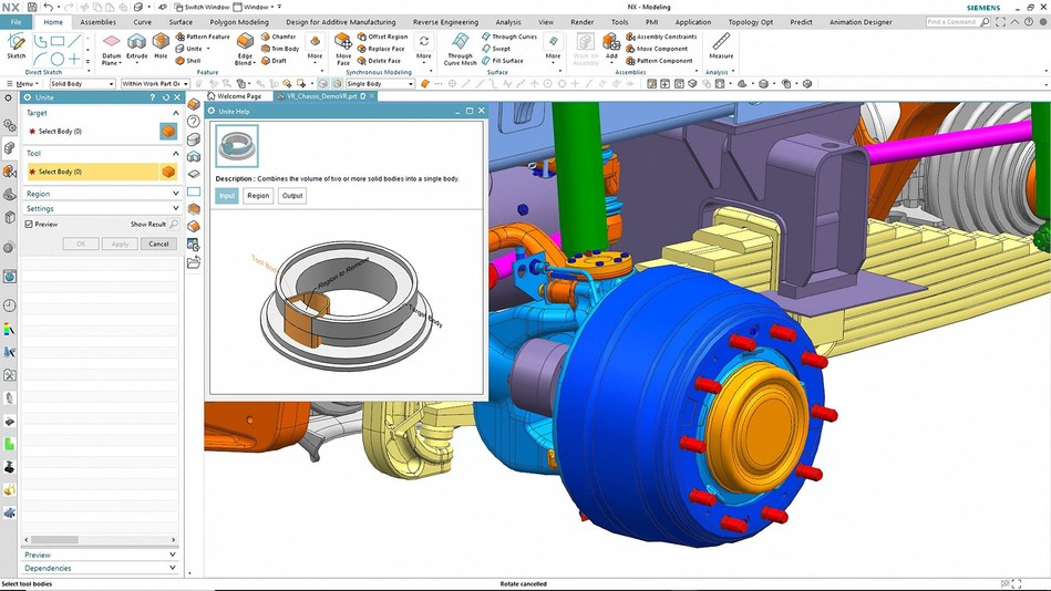 NX's latest updates are enhanced with machine learning and artificial intelligence to predict next steps and update the user interface accordingly, helping users increase productivity.