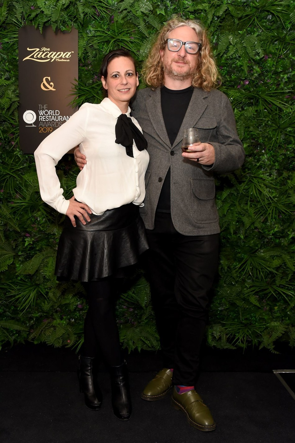 (L-R) Amanda Cohen and Joe Warwick attend the official Ron Zacapa rum opening event of The World Restaurant Awards 2019 at Malro on February 17th, 2019 in Paris, France. The exclusive event is ahead of the inaugural edition of The World Restaurant Awards being held at the Palais Brongniart on February 18th. (Photo by David M. Benett/Dave Benett/Getty Images for Zacapa Rum)