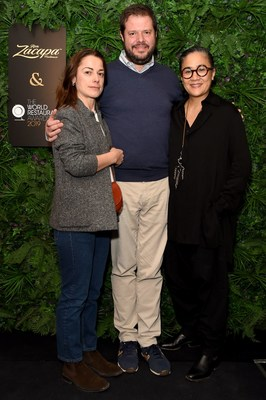 Laura Lazzaroni, Marco Bolasco and Kylie Kwong attend the official Ron Zacapa rum opening event of The World Restaurant Awards 2019 at Malro on February 17th, 2019 in Paris, France. The exclusive event is ahead of the inaugural edition of The World Restaurant Awards being held at the Palais Brongniart on February 18th. (Photo by David M. Benett/Dave Benett/Getty Images for Zacapa Rum)