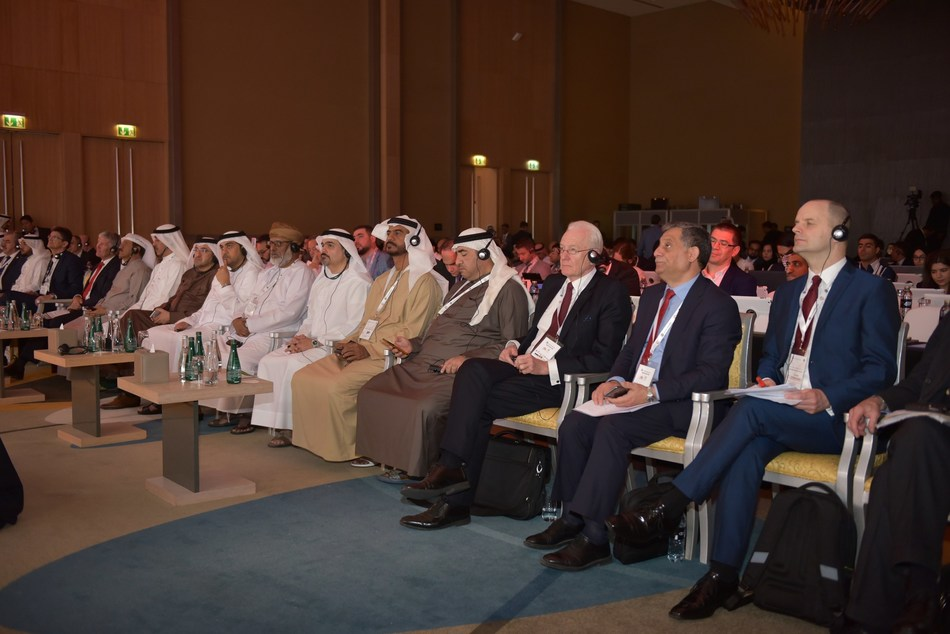 Eng. Sultan Al Mansouri, UAE Minister of Economy, Chairman of the Emirates Authority for Standardisation and Metrology, and a number of officials, ambassadors and consuls during the announcement of the Arab program of Halal in Dubai Monday 18 February 2019 (PRNewsfoto/Arab Halal Program)