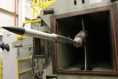 Raytheon engineers recently completed wind tunnel testing on a new, extended-range variant of the AMRAAM® air-to-air missile. Testing is a key step in qualifying the missile for the NASAMS™ launch system.