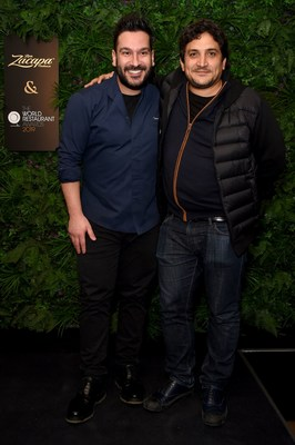 (L-R) Denny Imbroisi and Mauro Colagreco attend the official Ron Zacapa rum opening event of The World Restaurant Awards 2019 at Malro on February 17th, 2019 in Paris, France. The exclusive event is ahead of the inaugural edition of The World Restaurant Awards being held at the Palais Brongniart on February 18th. (Photo by David M. Benett/Dave Benett/Getty Images for Zacapa Rum)