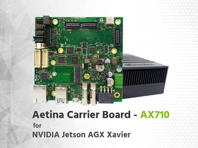 Aetina launch its Jetson Xavier Carrier AX710, bring up a brand-new page of edge AI computing platform solution. Product specifications are subject to change without prior notice.