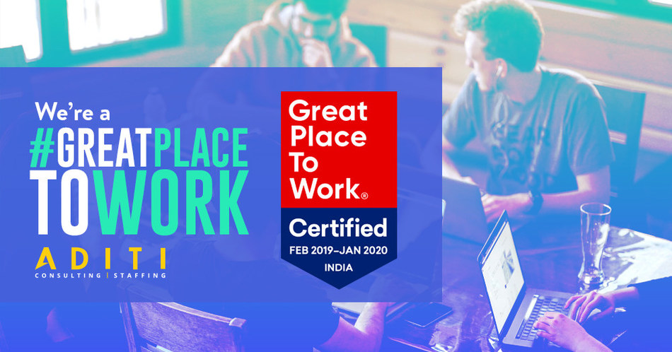 Aditi Named One of the Best Workplaces in 2019 by Great Place to Work® Institute