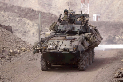 U.S. Marine Corps Light Armored Vehicle (LAV).  DoD photo.