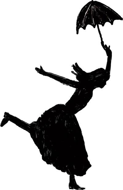Forum logo – dancer with an umbrella - Illustration created by Natacha Morneau during a creation workshop. (CNW Group/Musée national des beaux-arts du Québec)