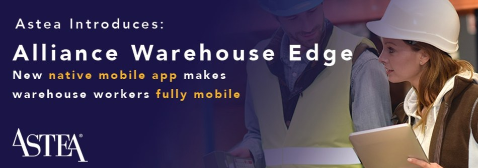 This latest expansion of Astea's Alliance Enterprise™ field service management platform adds full back office warehouse management functionality along with a new native mobile application for warehouse floor workers.