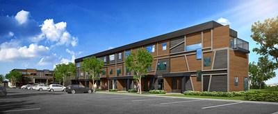 Hameau St-Jacques is a project of Groupe immobilier SMB, the Fonds immobilier de solidarité FTQ and the Fonds régionaux de solidarité FTQ Québec (CNW Group/Groupe immobilier SMB)