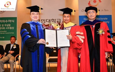 Husain Al-Musallam, Receives Honorary Degree Of Doctor Of Philosophy, Honoris Causa In Sports Science By Kookmin University