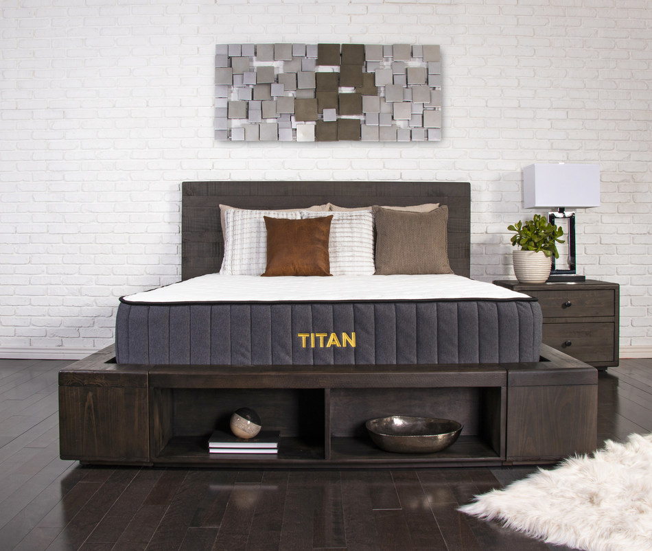 The Titan by Brooklyn Bedding offers a plus-size solution for plus-size sleepers, with construction designed to address the main concerns of customers of size.