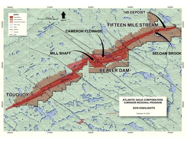 Corridor Highlight Plan (CNW Group/Atlantic Gold Corporation)