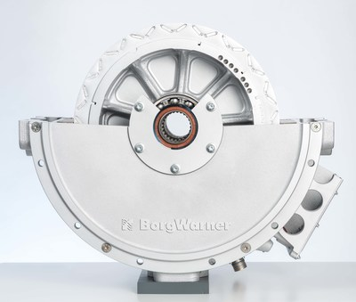 BorgWarner's rugged and powerful HVH410 electric motor drives electrification in the commercial vehicle segment and will be used in a major European commercial vehicle manufacturer's first plug-in hybrid truck.