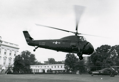 President Eisenhower was the first president to use helicopters regularly for presidential transportation.