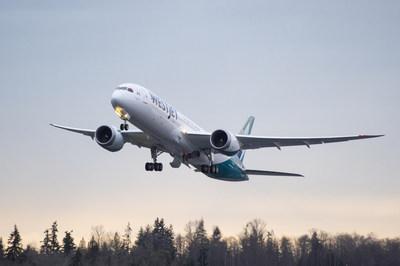 Le Dreamliner de WestJet inaugure son premier vol commercialisé (Groupe CNW/WESTJET, an Alberta Partnership)