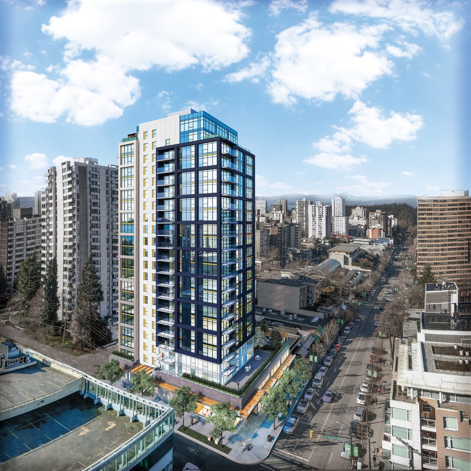 GWL Realty Advisors formally broke ground today on a 21-storey market rental tower at 1500 Robson Street (CNW Group/GWL Realty Advisors)