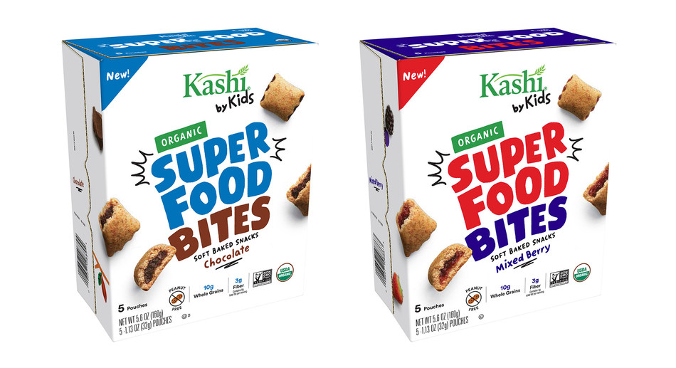 Today Kashi announced its newest innovation in the Kashi by Kids line, Kashi by Kids Organic Super Food Bites. The bites feature a blend of super food ingredients like chickpeas and sweet potato combined with delicious flavors like mixed berry or fair trade cocoa and chocolate to create a delicious bite sized snack.
