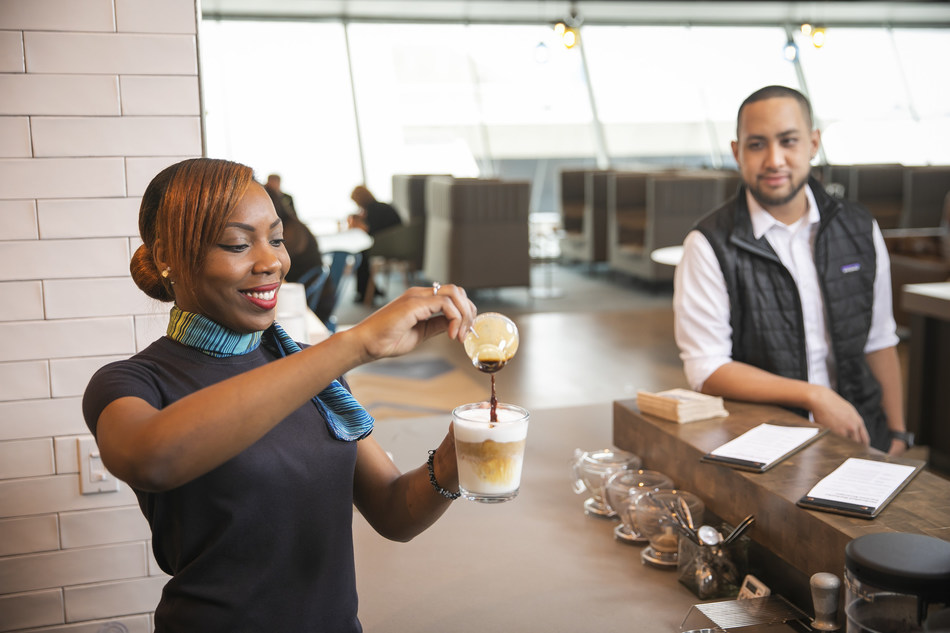 New Alaska Lounge at T2 at SFO to feature Starbucks coffee and a barista station