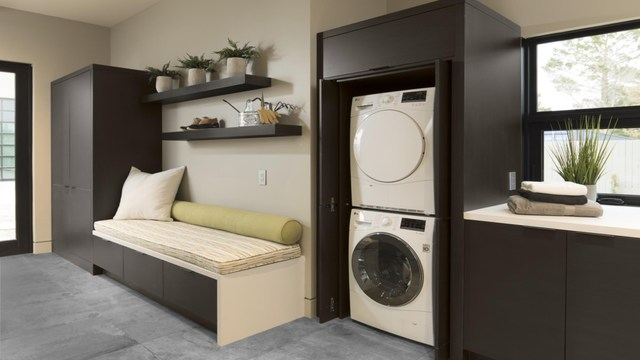 """A highlight of TNAR is the """"LG Ultimate Laundry Room,"""" built around an ENERGY STAR® certified LG front-load washer-dryer pair. It also features the premium LG Styler clothing care system."""