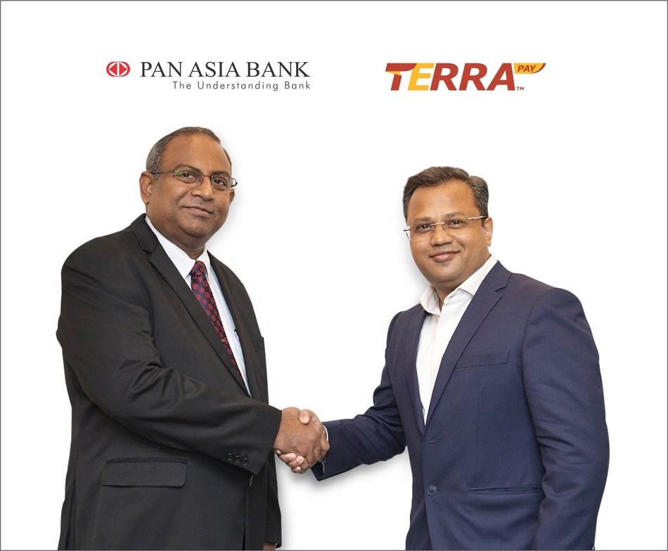 Gerald Wanigarathne of Pan Asia Bank and Aniruddha Sane of TerraPay (PRNewsfoto/TerraPay)