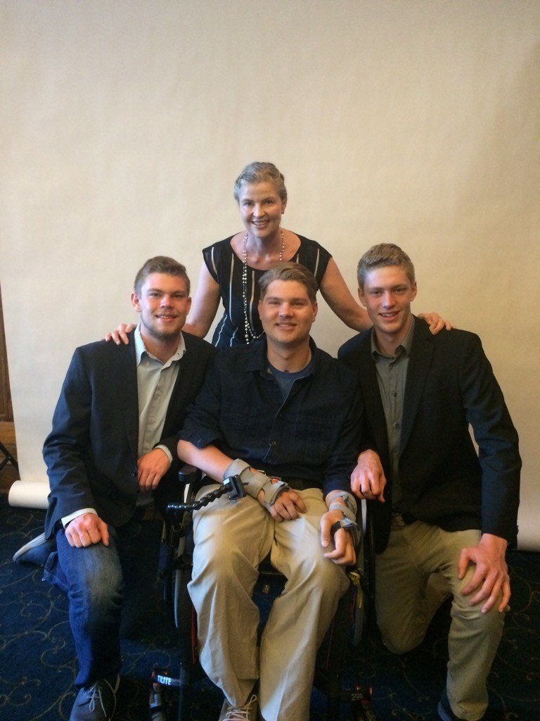 Torill and her three sons. (CNW Group/Torill's Table)