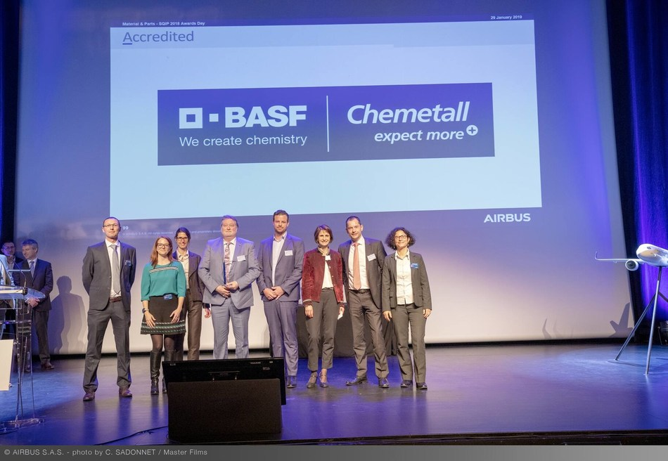 Chemetall® receives Airbus SQIP award for the fifth consecutive year. photo credits: C. Sadonnet/ Airbus S.A.S.
