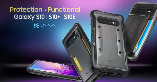 Vena will now offer its vCommute, vArmor and vSkin mobile phone cases for the new Samsung Galaxy S10E, S10 and S10+ smartphones.