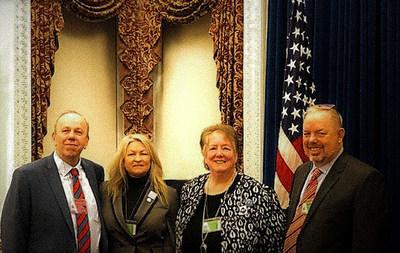 From left to right: eDiscovery educators David Greetham, Kaylee Walstad, Mary Mack, Shannon Bales