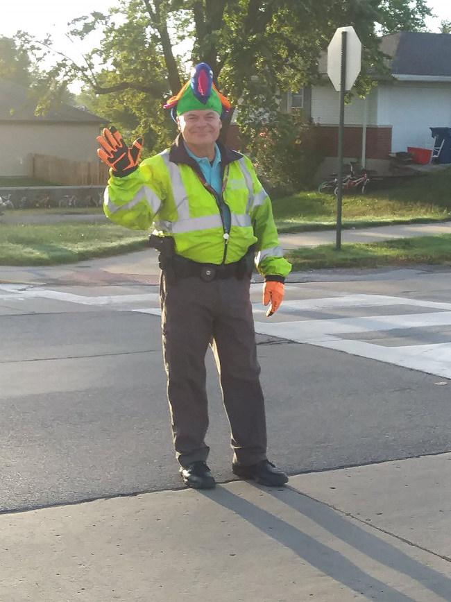 Lyn Woolford, winner of America's Favorite Crossing Guard contest.