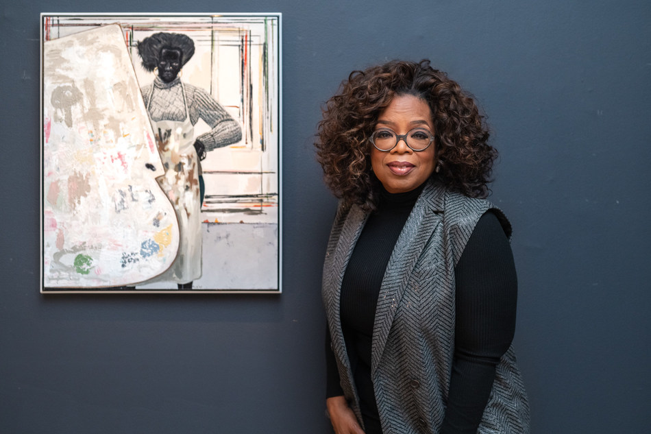 Sotheby's 2019 Contemporary Art season opens in New York on March 1st with 'Contemporary Curated', featuring co-curators Agnes Gund and Oprah Winfrey, pictured here with Kerry James Marshall's 'Untitled (Painter)' from 2008, which is estimated to sell for $1.8/2.5 million.  The entire auction is estimated to achieve more than $22.5 million, the highest-ever pre-sale estimate in the series' nearly six-year history.