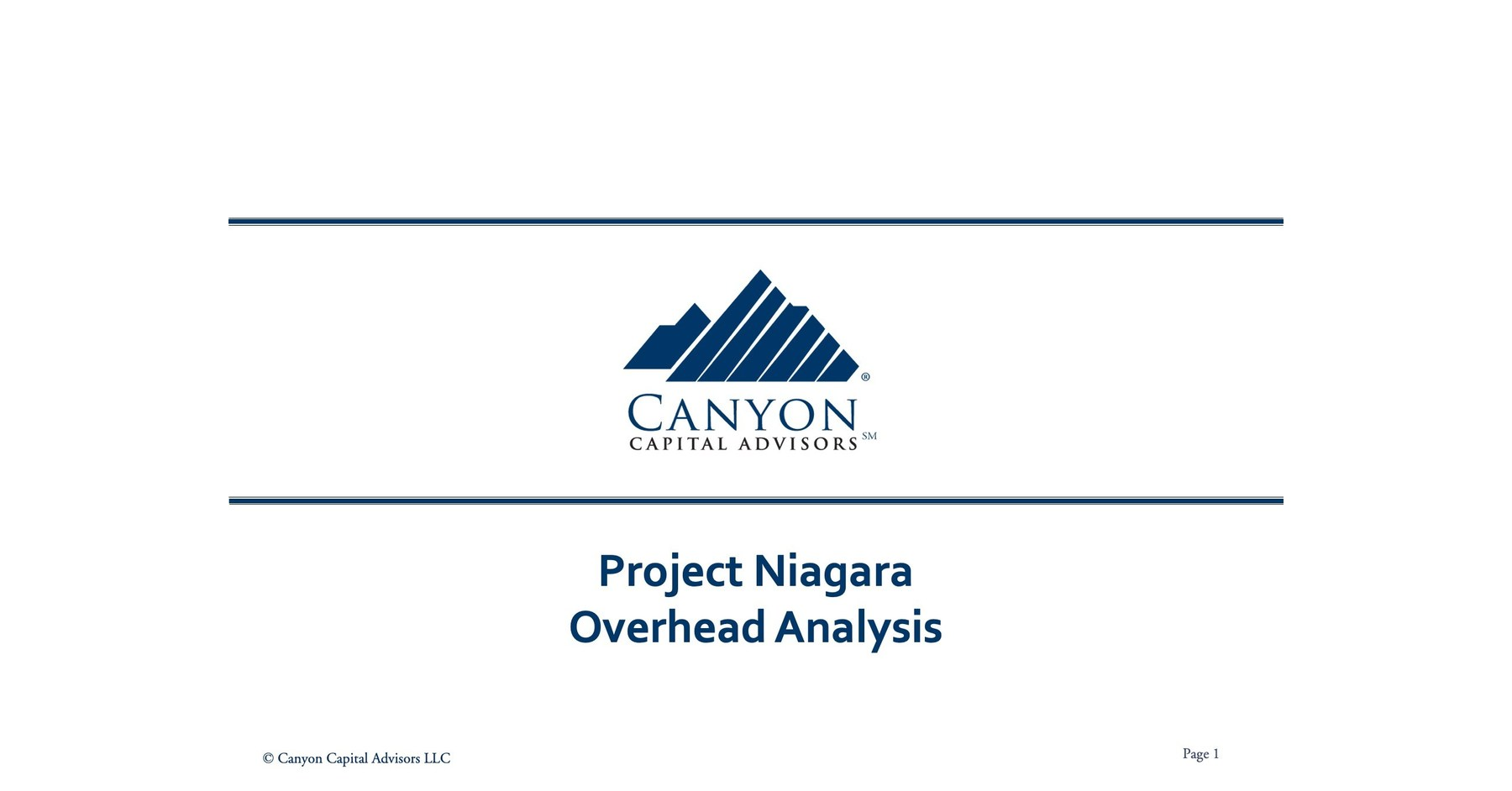 Canyon Partners Proposes Minority Slate of Nominees
