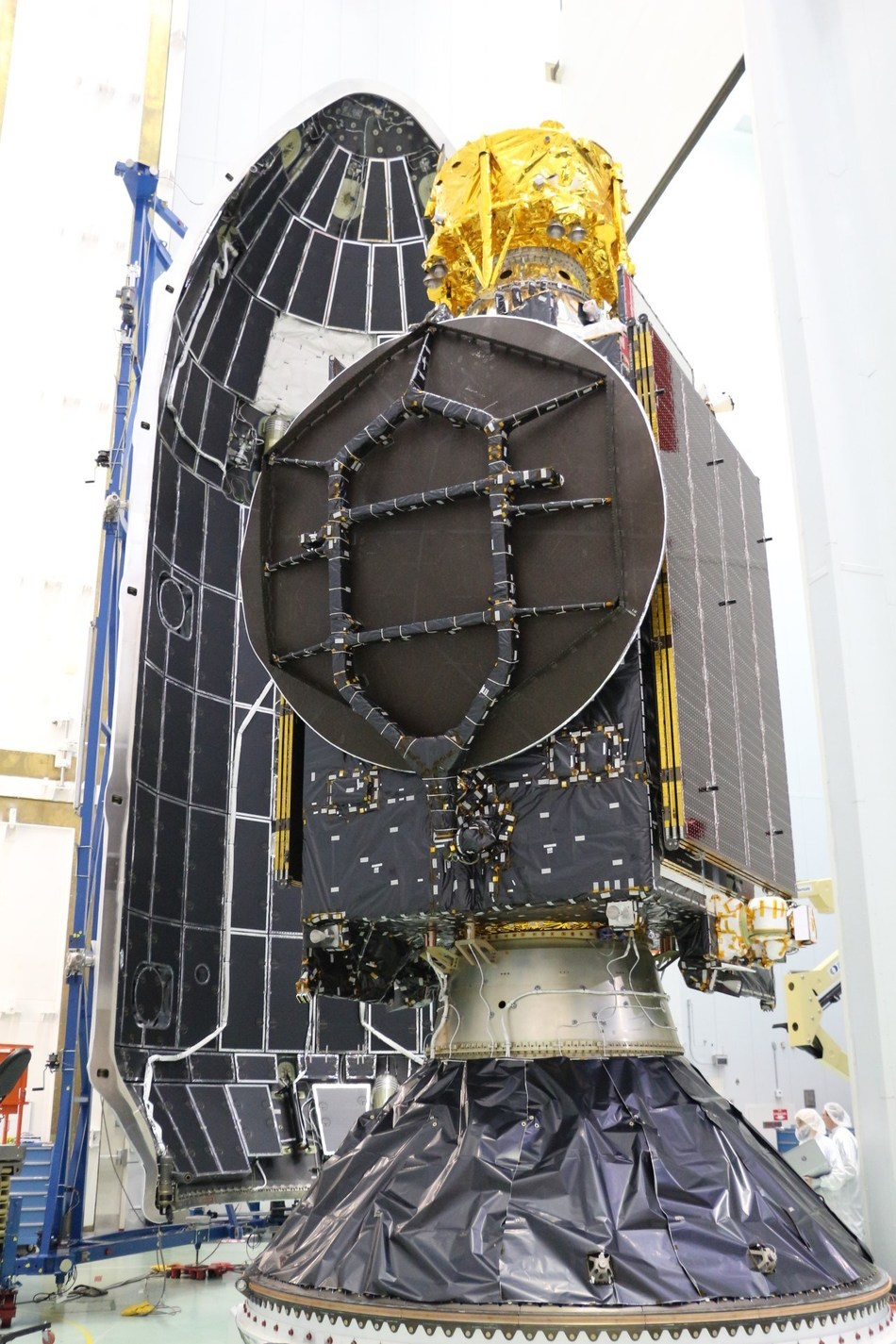 The SSL-built Nusantara Satu communications satellite is performing according to plan. Image courtesy of SSL. (CNW Group/Maxar Technologies Ltd.)