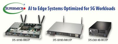 Novos sistemas compactos Supermicro Edge compatíveis com inferência para IA e 5G