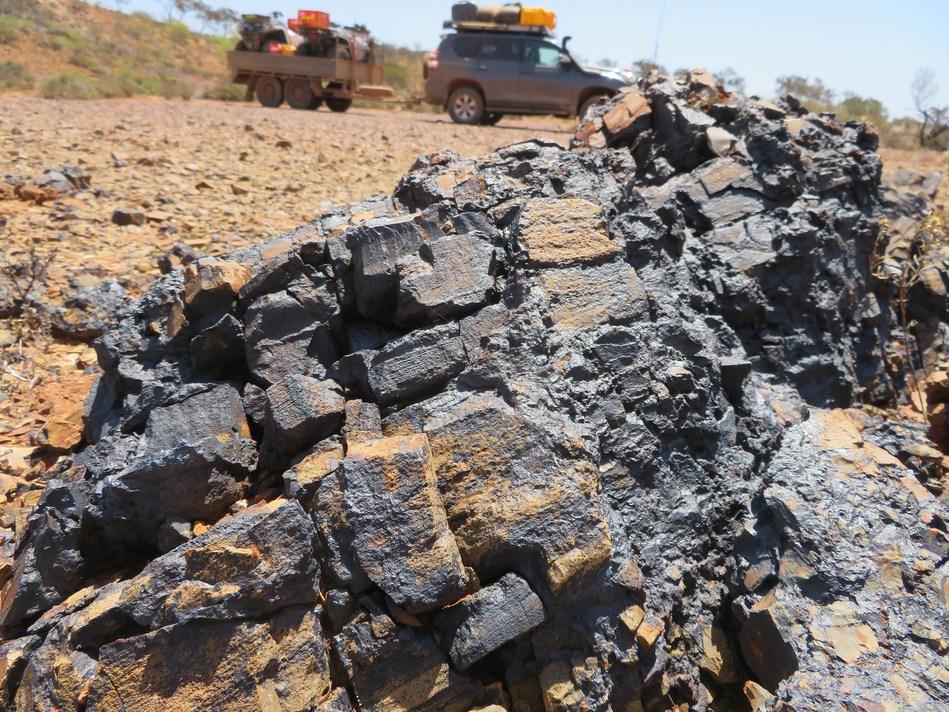 Figure 1: Outcropping Cobalt-Manganese Mineralization (CNW Group/Bluebird Battery Metals)