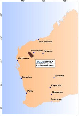 Figure 2: Location Plan of Project in Western Australia (CNW Group/Bluebird Battery Metals)