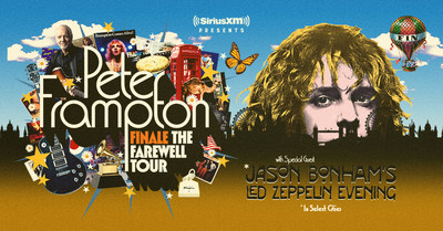 Peter Frampton Finale -- The Farewell Tour Presented By SiriusXM Confirmed