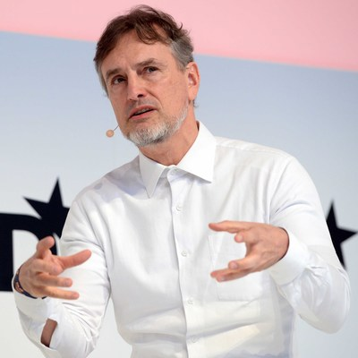 Jürgen Schmidhuber. Photo Credit: DLD 2017, picture alliance / Andreas Gebert