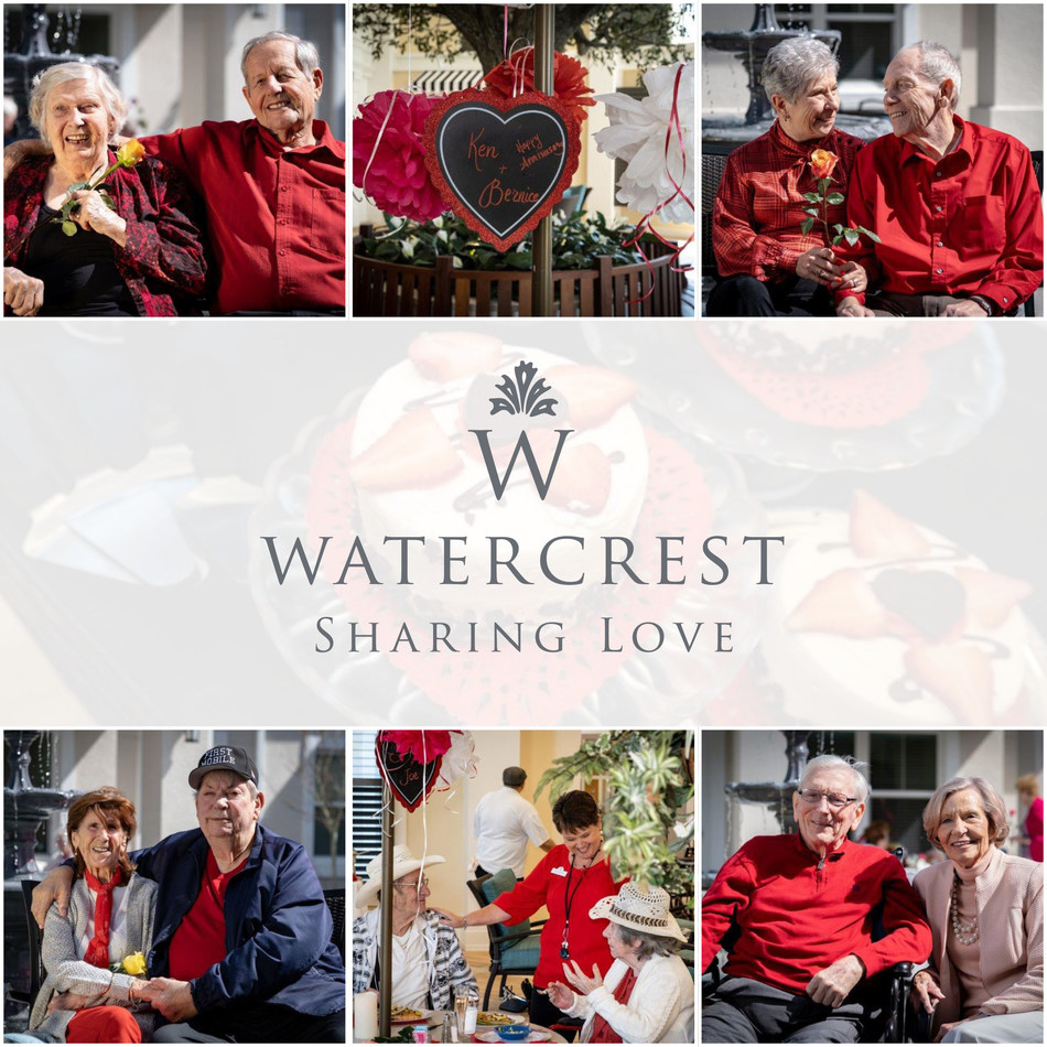 At Market Street Memory Care Residence, celebrating special occasions, such as this Sweetheart Luncheon, allows family members time to focus on their relationship with their loved one.