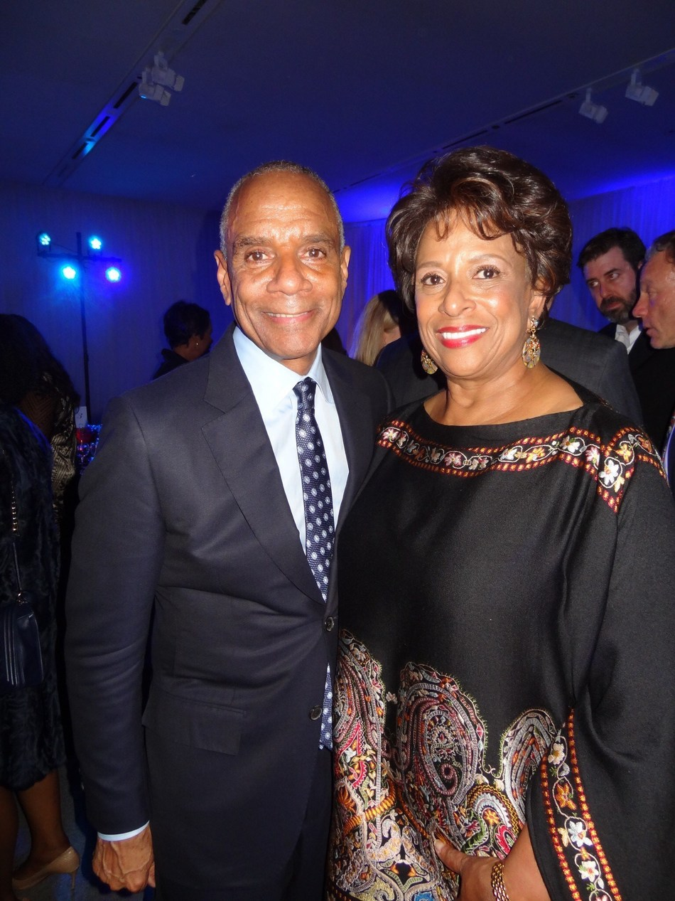 Former American Express CEO Ken Chenault shares a moment with Priscilla Hill-Ardoin, board member of Enterprise Holdings, following the New York PBS-TV taping of An Evening With Ken Chenault, the unofficial launch to the BusinessMakers Initiative.  The HistoryMakers returns to St. Louis this week to officially announce the launch, made possible by a $600,000 grant from the Enterprise Holdings Foundation, to raise the profile and public understanding of African American achievement in business.