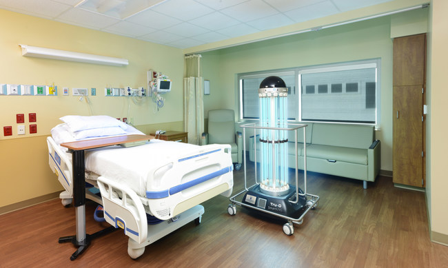 Tru-D is used to disinfect patient rooms, operating rooms and other areas in health care facilities.
